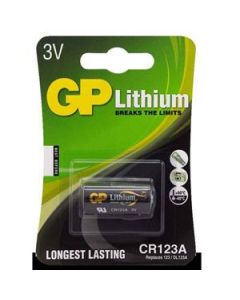 Battery Gp Lithium Photo Cr123A 3V Card-1