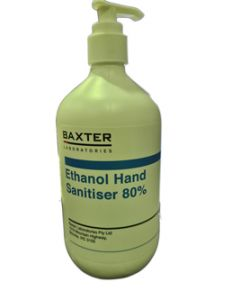Australian Made Hand Sanitiser 80% Alcohol 500ml Bottle CTN x 10
