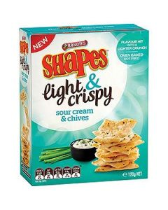 Biscuits Arnotts Shapes Sour Cream Chives 120G