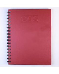 Book Spiral Hardcover A5  200P Ruby