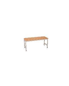 Rapidline Bench Seat 1000mm wide Seat in Silver/grey