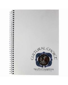 Cultural Choice spiral bound A5 note book with pocket 200 pages white - Pack of 10