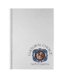 Cultural Choice spiral bound A4 note book 120 pages White - Pack of 10