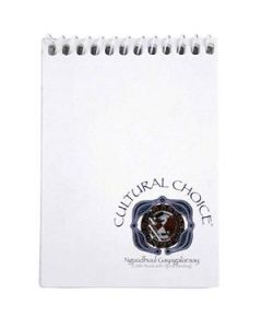 Cultural Choice spiral top bound pocket note book 96 pages white - pack of 20