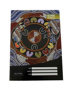 Cultural choice exercise book a4 8mm ruled 64 pages - Pack of 20