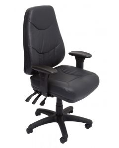 Lander - Heavy Duty Genuine A Grade Leather Executive 24/7 Chair