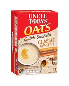 Cereal Uncle Tobys Quick Oats Classic Variety 420G
