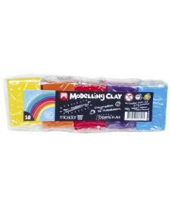 Modelling Clay Micador Asst Colours 50G Pkt-10