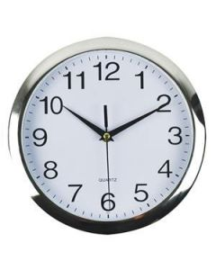 Clock Office Italplast 260Mm Wall Silver/White