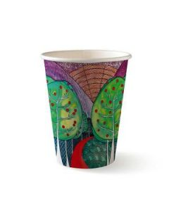 Cups Paper Biocup 12Oz 355Ml Sgl/Wall Art Ctn1000