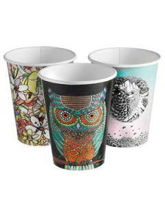 Cups Paper Biocup 8Oz 278Ml Sgl/Wall Art Ctn1000