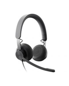 LOGITECH ZONE WIRED USB STEREOHEADSET,MSFT TEAMS,NOISE CANCELLING,2YR WTY