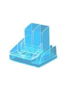 Desk Organiser 8 Compartment Neon Blue Each