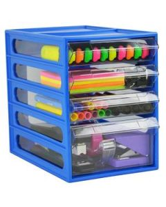 Desk Organiser Mini Cabinet 4 Drawer Blueberry Ea