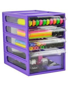 Desk Organiser Mini Cabinet 4 Drawer Grape Ea