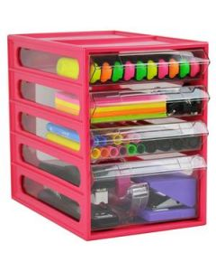 Desk Organiser Mini Cabinet 4 Drawer Watermelon Ea