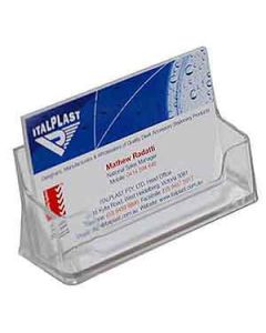 Holder Italplast I552 Business Card L/Scape Clear