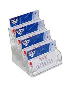 Holder Italplast I553 Bus Card Holder 4Tier Clear