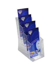 Holder Brochure Italplast I556 Dl 4 Tier Clear