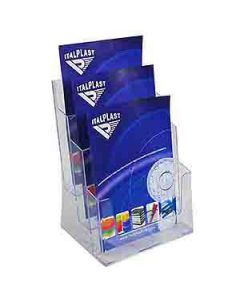 Holder Brochure Italplast I555 A4 3 Tier Clear