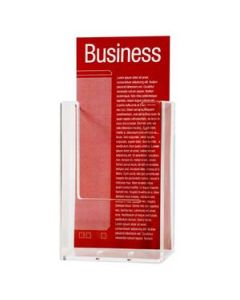 Holder Brochure Dl Single Wall Mount Clear