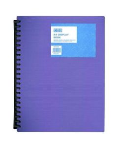 Display Book Spiral  20 Pock A4 Med Weight Pur