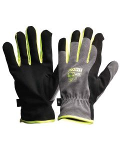 Glove - Leather Synthetic ProFit Riggamate Silver - x 12