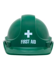 Cap - Safety ABS Unisafe Unvented Terylene Headgear First Aid logo Green