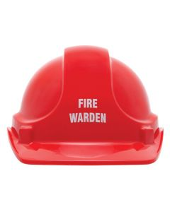 Cap - Safety ABS Unisafe Unvented Terylene Headgear Fire Warden - Red