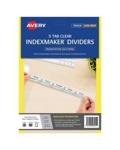 Dividers Avery Indexmaker  5 Tab Clear