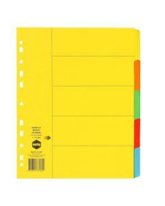 Dividers Cardboard A4 5 Tab Extra Wide