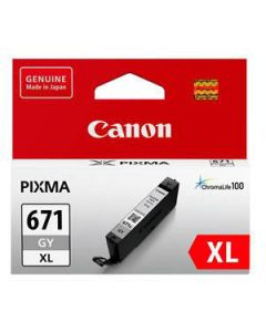 Inkjet Cartridge Canon Cli-671Xlgy H/Y Grey Oem