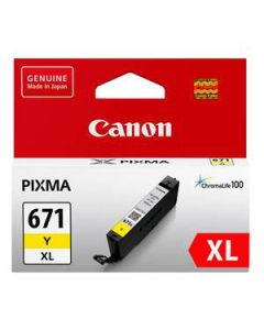 Inkjet Cartridge Canon Cli-671Xly H/Y Yellow Oem