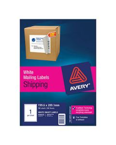 Labels Ink Jet Avery J8167 1 Per Sheet Bx50