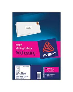 Labels Ink Jet Avery J8164 -50 12 Per Sheet Bx50