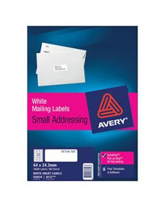 Labels Ink Jet Avery J8157 33 Per Sheet Bx50