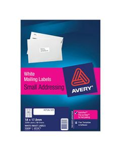 Labels Ink Jet Avery J8156 45 Per Sheet Bx50