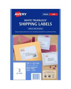 Labels Laser Avery L7155  3 Per Sheet Box-100