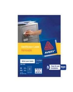 Labels Laser Avery L7157Rev-25 Removable 33Up 25S
