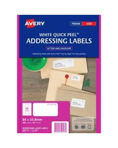 Labels Laser Avery L7159 24 Per Sheet Wht Pkt-40