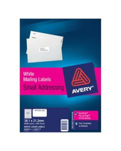 Labels Laser Avery L7651 65/Sht Mini Address Bx100