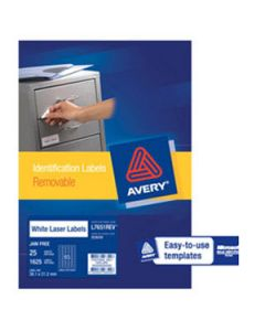 Labels Laser Avery L7651Rev-25 Removable 65Up P25