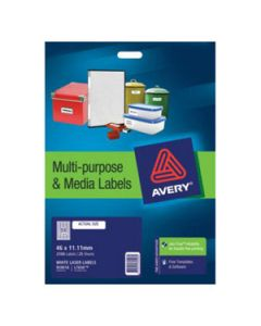 Labels Laser Avery L7656 84/Sheet 35Mm Slide Pk25