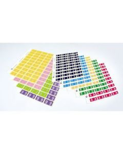 Labels Lateral Avery S4 Alpha *J* Sheets Pkt240