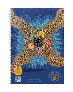 Cultural Choice spiral bound A5 note book  200 pages - Pack of 10