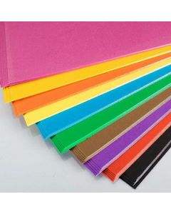 Cardboard 510 X 640Mm 200Gsm Asst Colours Pkt100