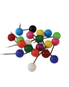 Pin Map Small Assorted Colours 8Mm Pkt-100