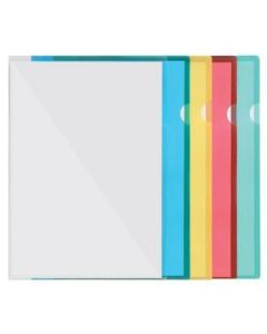 File Letter Clear Pp A4 Blue Pkt-100