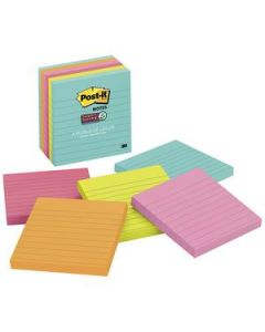 Post-It Notes S/Sticky 100X100 90 Sheet Miami Pkt6
