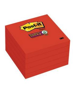 Post-It Notes 76X76Mm S/Sticky Red Cube Pkt5